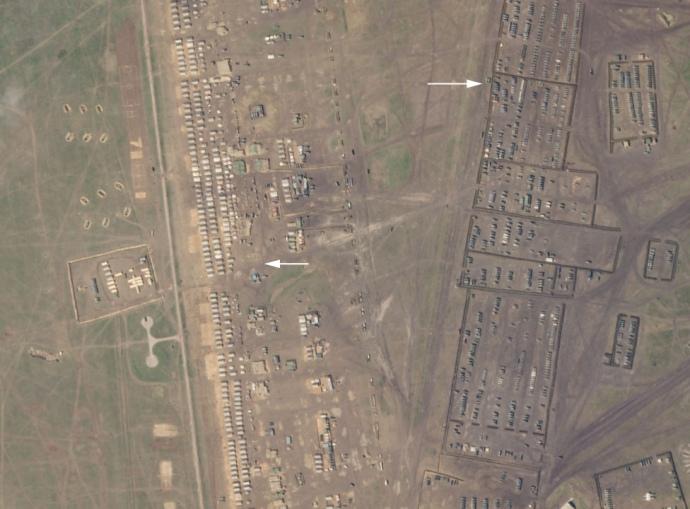 Лагерь со спутника. Фото: СIT