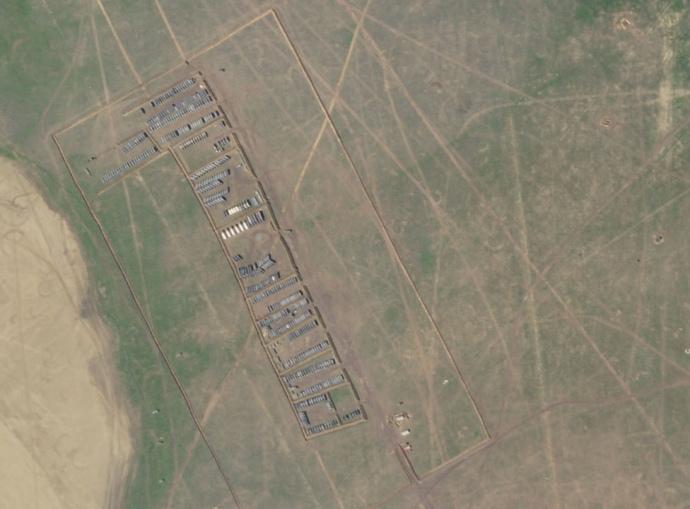 Лагерь со спутника. Фото: СІТ