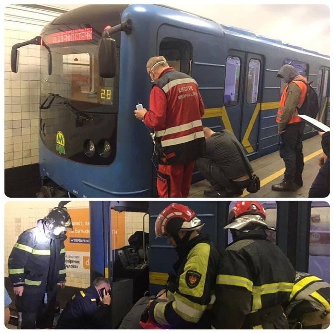 В Киеве мужчина прыгнул под поезд. Фото: ГСЧС