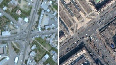 Слева - Газа, справа - Пхеньян . Фото: BBC