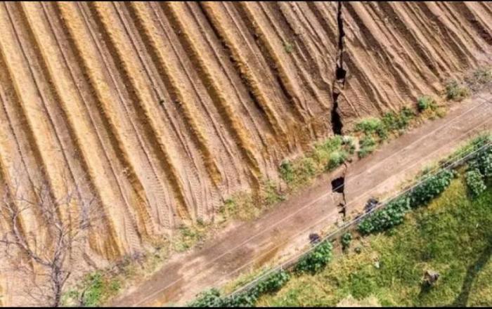 Тріщини в землі у Мексиці, фото: ESPECIAL