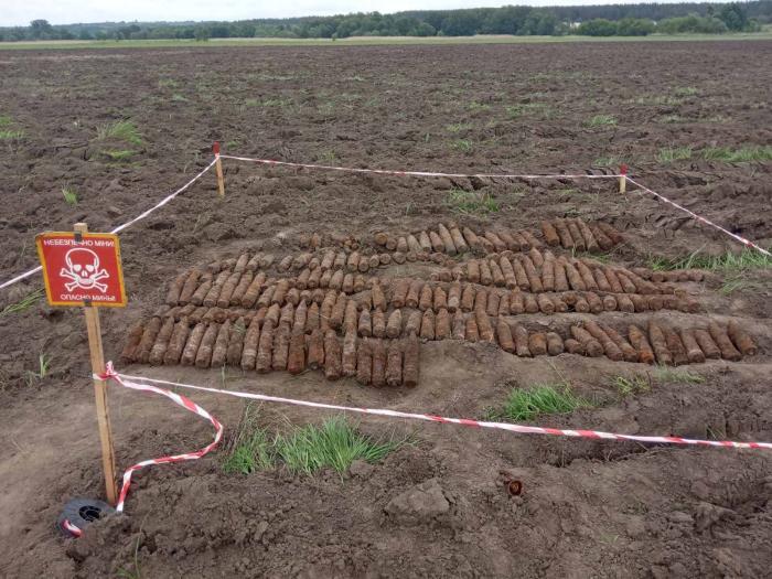 Взрывоопасные предметы, обнаруженные на Черкасщине, фото: ГСЧС