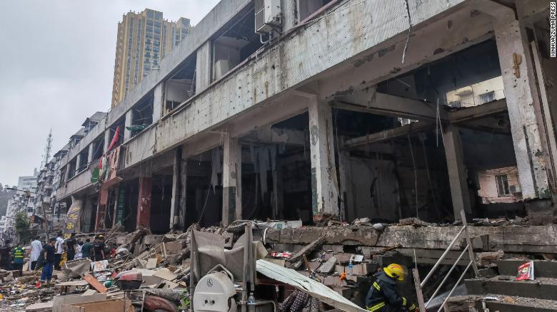 Взрыв в Китае. Фото: BBC