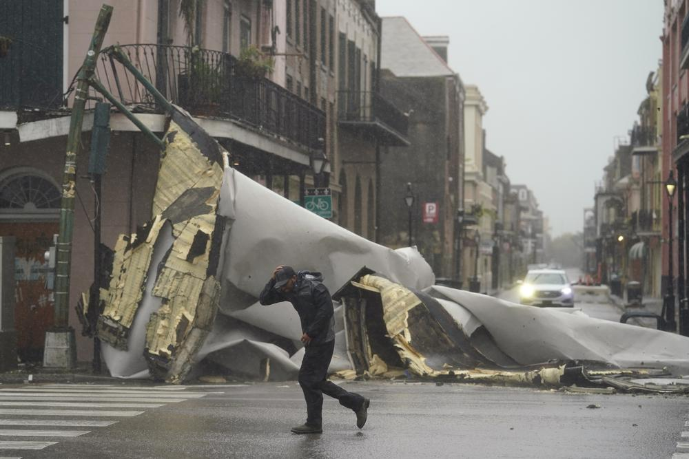 Huracán Ida.  Foto: AP