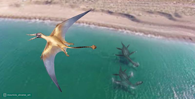 Остатки одного из древнейших птерозавров нашли палеонтологи. Фото: Университет Чили