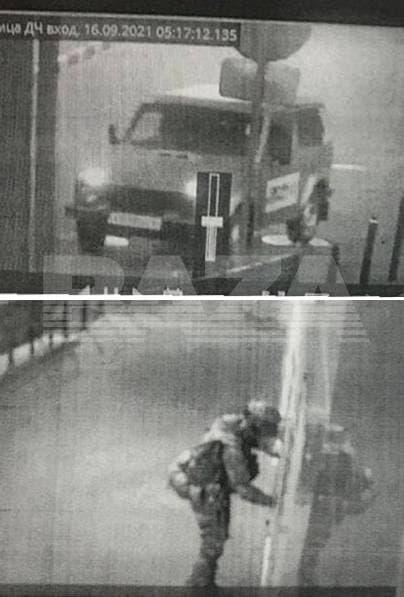 Вооруженный мужчина подорвал отдел полиции. Фото: BAZA