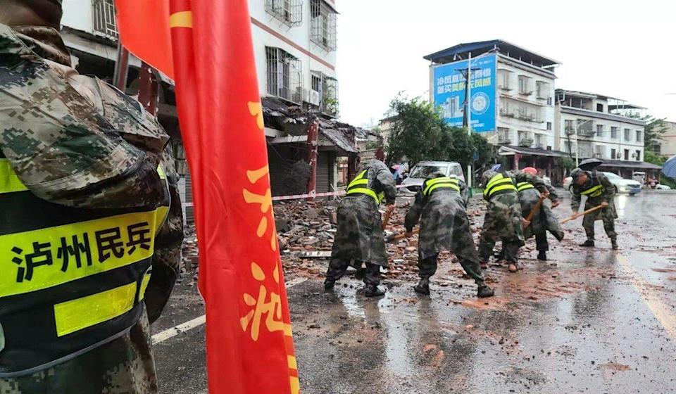 Землетрус в Китаї. Фото: SCMP