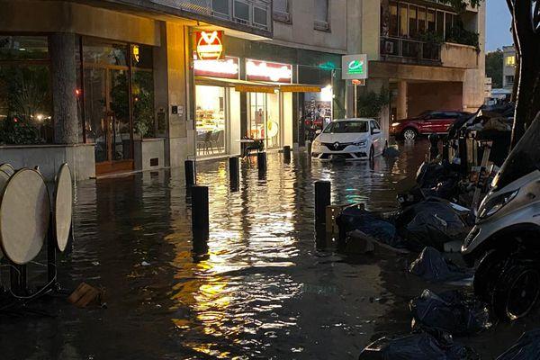 Наводнение в Марселе. Фото: Twitter