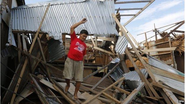 Хагупит нанес большой ущерб в нескольких городах на восточном побережье Филиппин.