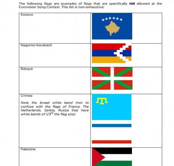 На Евровидении запретили крымскотатарский флаг