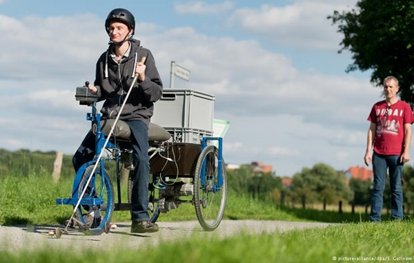 ВГермании изобрели велосипед для слепых