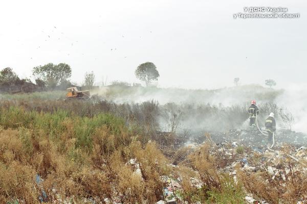 ВТернопольской области полыхает свалка