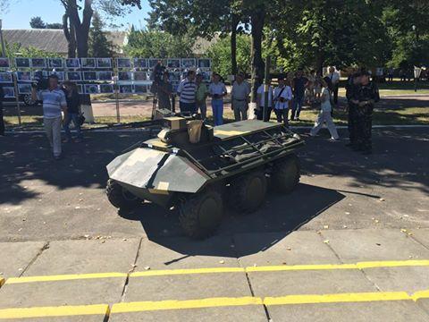 Вгосударстве Украина появился 1-ый беспилотный БТР