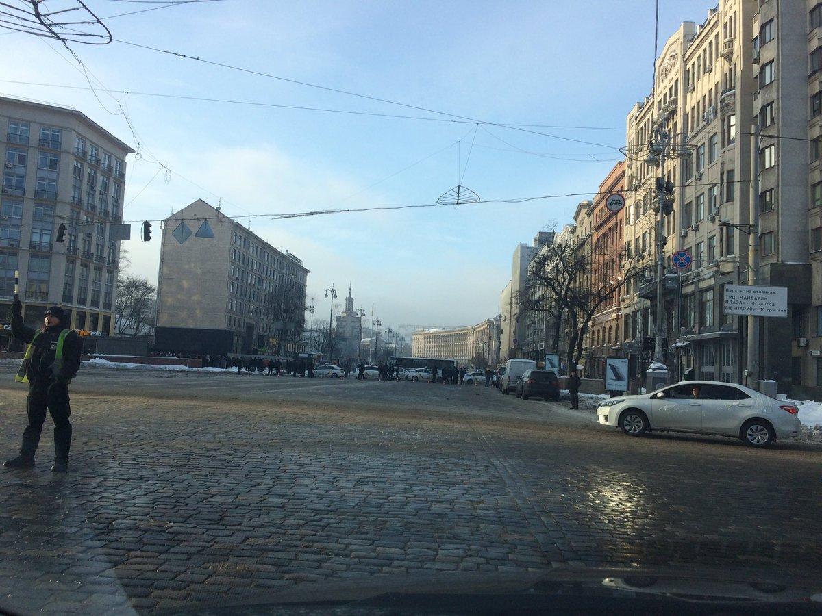 Вцентре украинской столицы перекрыли ряд улиц