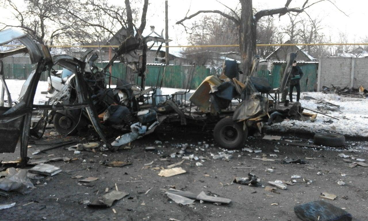 ВДонецке взорвался автомобиль