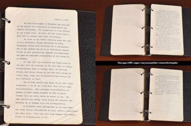 Фото сторінок щоденника Кеннеді / ВВС