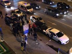 Погоня патрульных за автомобилем-нарушителем закончилась тройным ДТП в центре Киева (ВИДЕО)