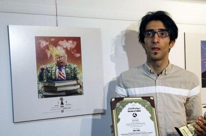 «Трампизм». ВИране выбрали лучшую карикатуру напрезидента США