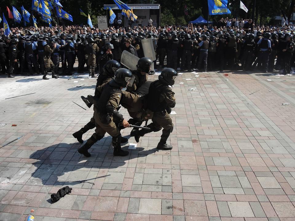 ВКиеве начались мероприятия впамять опогибших подВР нацгвардейцах