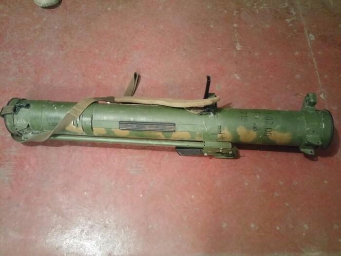 Взоне проведения АТО были найдены огнеметы иракеты с русской маркировкой,