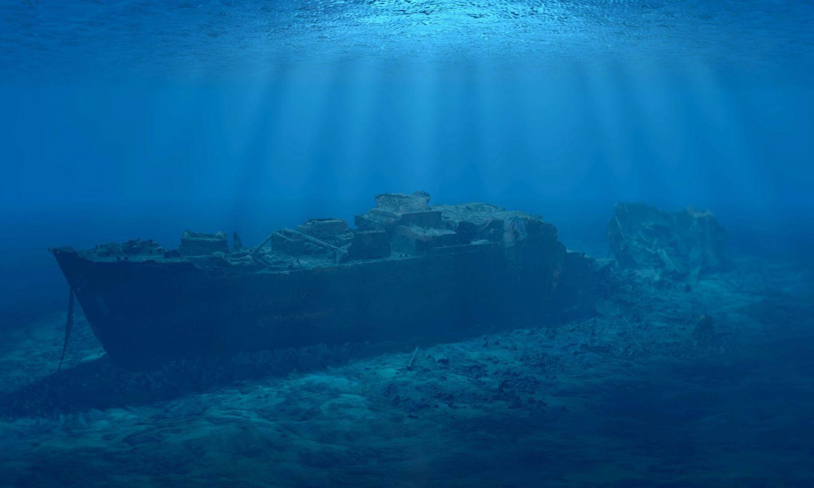 затонувший корабль титаник фото