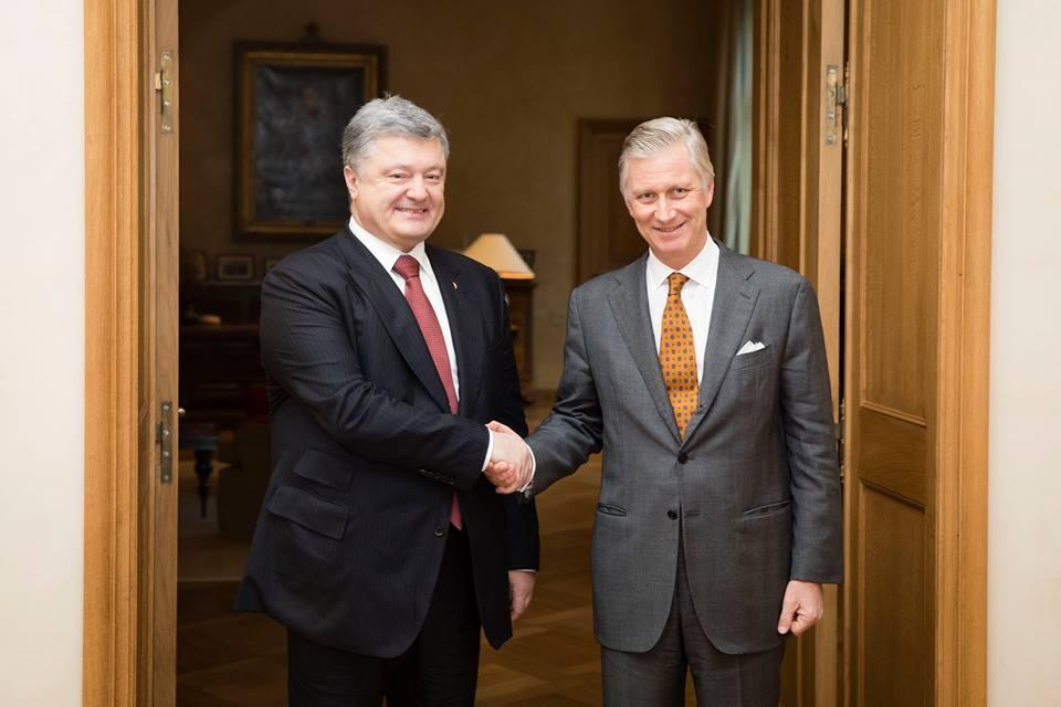 Фото: встреча с королем Бельгии