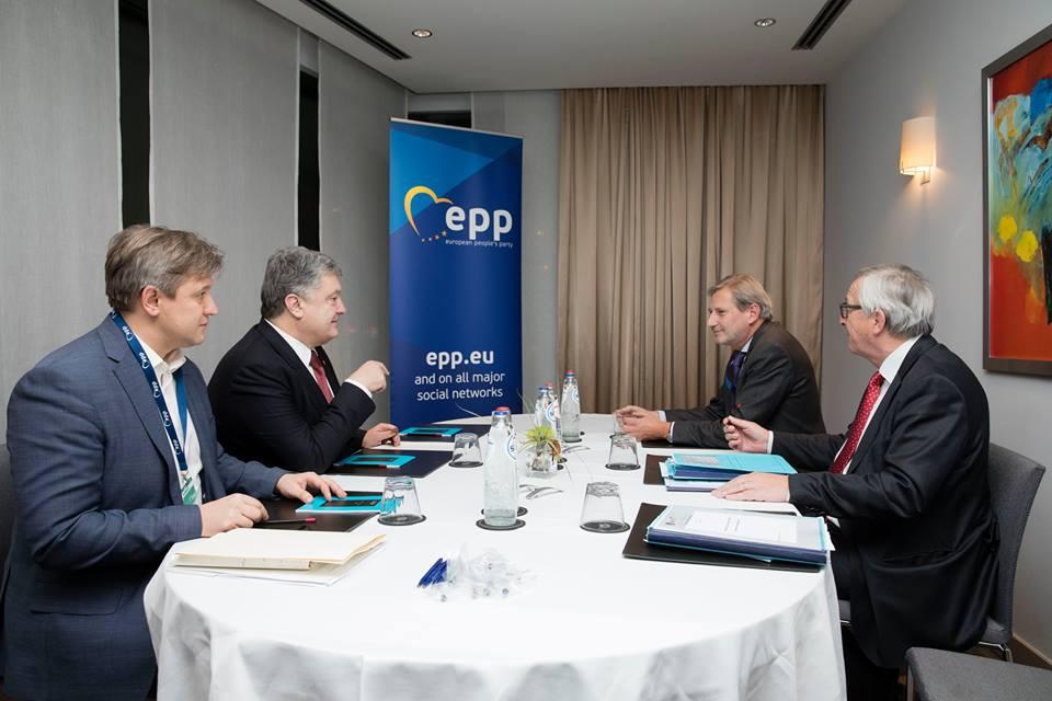 Фото: встреча Юнкера и Порошенко