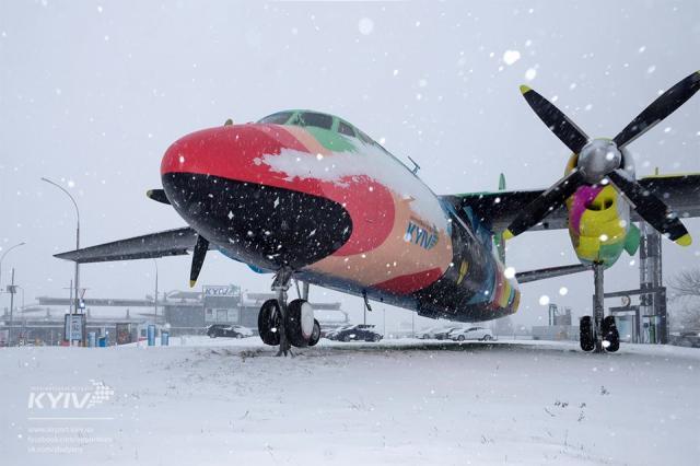 Аэропорт Борисполь поведал орежиме своей работы навремя снегопадов