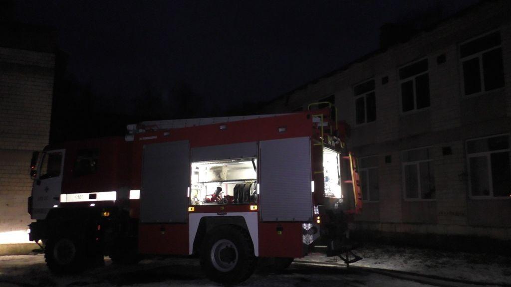 Вчерновицкой школе сгорел класс